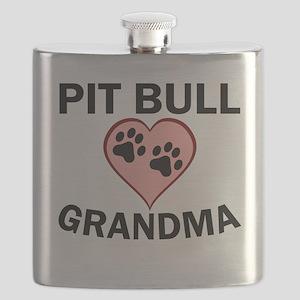 Pit Bull Grandma Flask