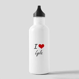 I Love Lyla artistic d Stainless Water Bottle 1.0L