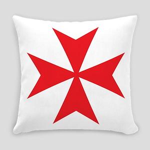Red Maltese Cross Everyday Pillow