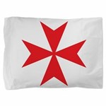 Red Maltese Cross Pillow Sham
