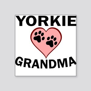 Yorkie Grandma Sticker