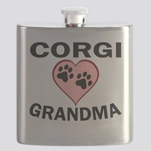 Corgi Grandma Flask