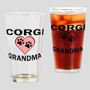 Corgi Grandma Drinking Glass