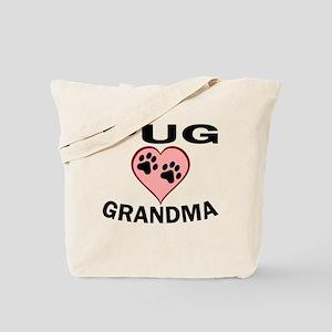Pug Grandma Tote Bag