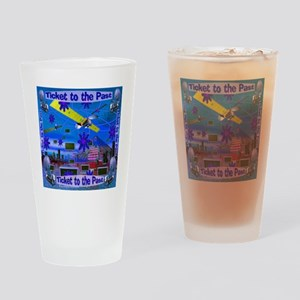 Ticket to the Past Drinking Glass
