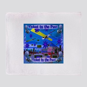 Ticket to the Past Throw Blanket