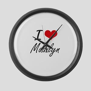 I Love Madilyn artistic design Large Wall Clock
