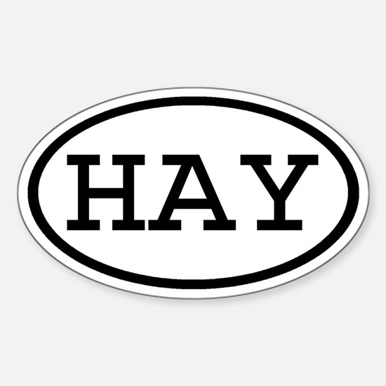 HAY Oval Oval Decal