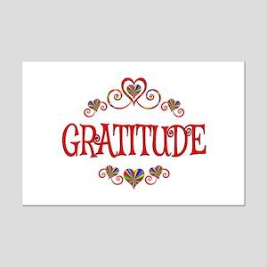 Gratitude Hearts Mini Poster Print
