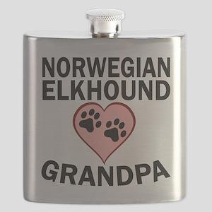 Norwegian Elkhound Grandpa Flask