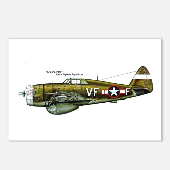 Cool P 47 thunderbolt Postcards (Package of 8)
