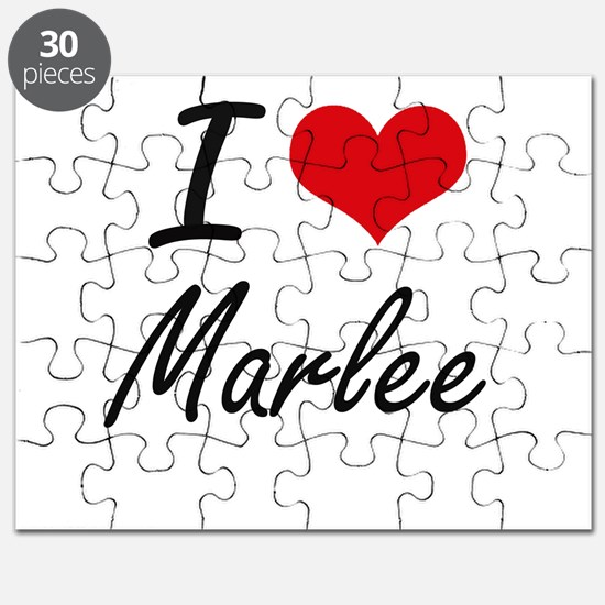 I Love Marlee artistic design Puzzle
