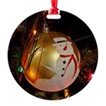 Frosted Snowman Ornament Ornament