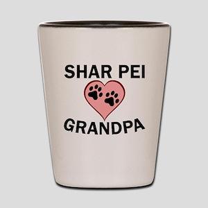 Shar Pei Grandpa Shot Glass