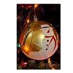 Frosted Snowman Ornament Postcards (Package of 8)