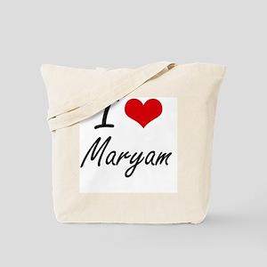 I Love Maryam artistic design Tote Bag