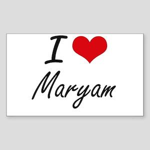 I Love Maryam artistic design Sticker