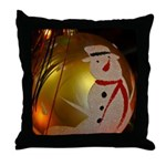Frosted Snowman Ornament Throw Pillow