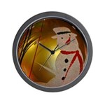 Frosted Snowman Ornament Wall Clock