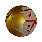 Frosted Snowman Ornament Button