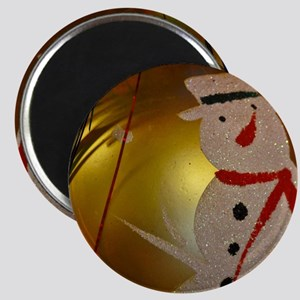 Frosted Snowman Ornament Magnets