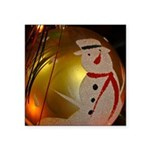 Frosted Snowman Ornament Sticker