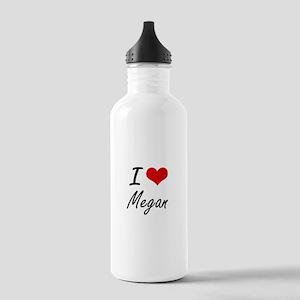 I Love Megan artistic Stainless Water Bottle 1.0L