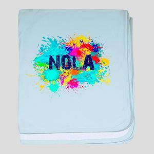 Good Vibes NOLA Burst baby blanket