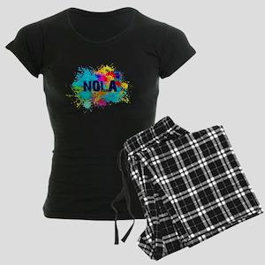 Good Vibes NOLA Burst Women's Dark Pajamas