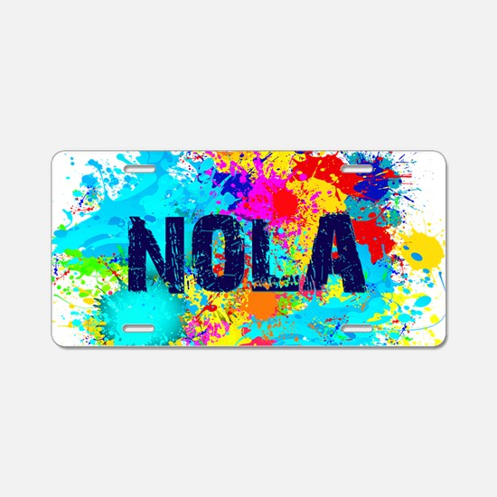 Good Vibes NOLA Burst Aluminum License Plate