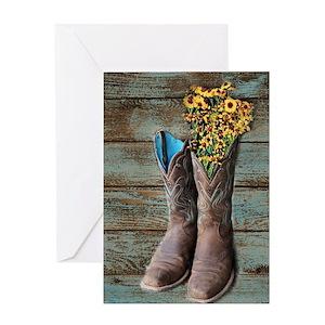 Cowboy Boots Greeting Cards - CafePress 9b6dabb46ebf