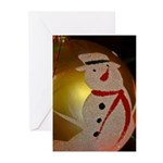 Frosted Snowman Ornament Greeting Cards