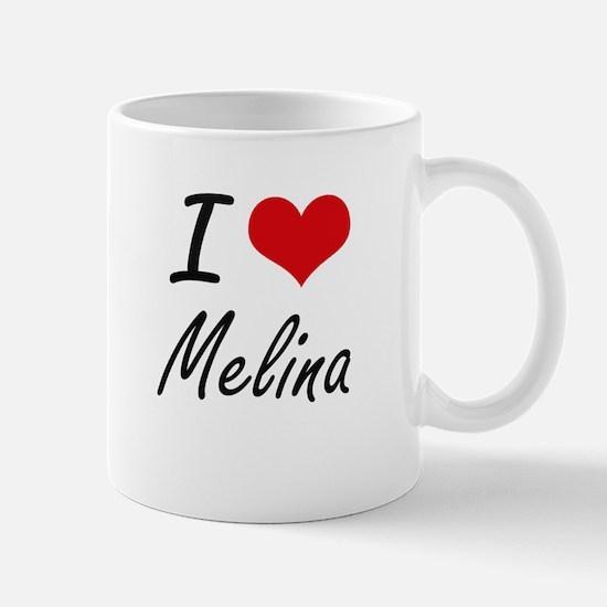 I Love Melina artistic design Mugs