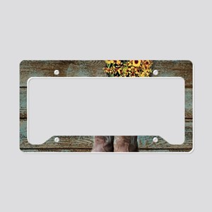 cowboy boots barn wood License Plate Holder