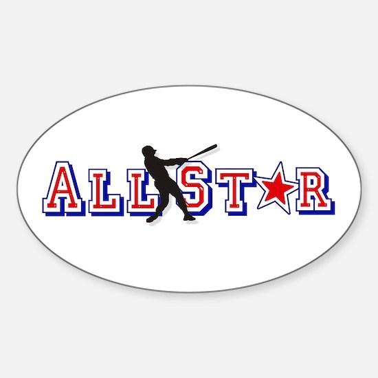 Baseball All Star Sticker (Oval)