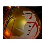 Frosted Snowman Ornament Throw Blanket