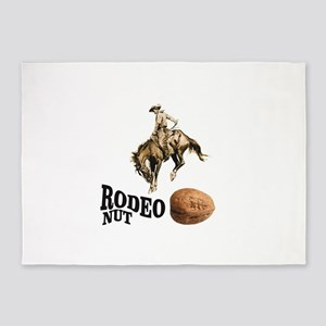 rodeo nut 5'x7'Area Rug