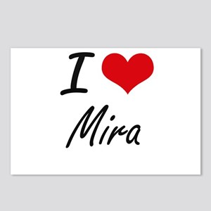 I Love Mira artistic desi Postcards (Package of 8)