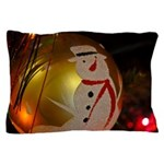 Frosted Snowman Ornament Pillow Case