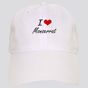 I Love Monserrat artistic design Cap
