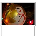 Frosted Snowman Ornament Yard Sign