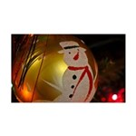 Frosted Snowman Ornament Wall Decal