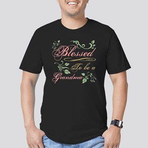 Blessed To Be A Grandm Men's Fitted T-Shirt (dark)