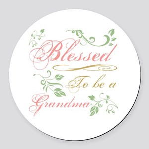 Blessed To Be A Grandma Round Car Magnet