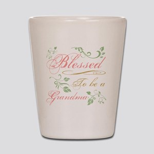 Blessed To Be A Grandma Shot Glass