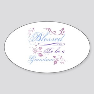 Blessed To Be A Grandma Sticker (Oval)