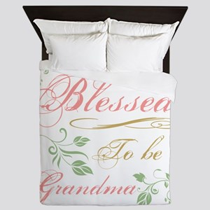Blessed To Be A Grandma Queen Duvet