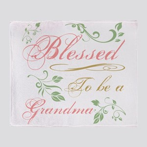 Blessed To Be A Grandma Throw Blanket