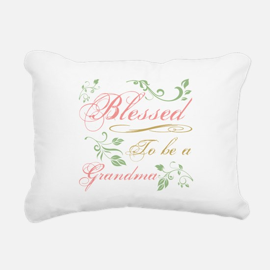 Blessed To Be A Grandma Rectangular Canvas Pillow