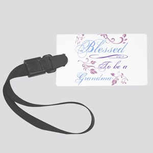 Blessed To Be A Grandma Large Luggage Tag